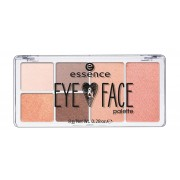 ESSENCE PALETA ROSTRO Y OJOS 4 SOMBRAS + COLORETE + ILUMINADOR 02 RISE AND SHINE