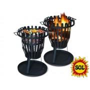 Přenosné ohniště kulaté SOL koš 50 cm