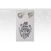 Solo Act Ltd £6.99 instead of £29 (from Styled By) for an All You Need Is Love' earrings and gift card set - save 76%