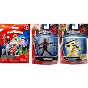 Power Rangers Saban's Ninja Steel Edition with Battle Gear 5-Inch Yellow Ranger & Red Training Mode Action Hero Figure + Bonus Blind Bag Buildable Mini Figure & Accessory