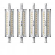 Philips Set di 4 lampadine lineari LED dimmerabili R7S 100W