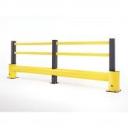 Rammschutzgeländer FLEX IMPACT Pfostenhöhe 1060 mm Gesamtbreite 4800 mm