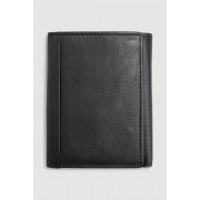 Next Signature Italian Leather Extra Capacity Trifold Wallet - Black - Mens