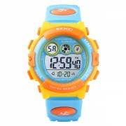 Ceas de copii sport SKMEI 1451 waterproof 5ATM cu cronometru,alarma, data si iluminare ecran, galben