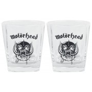 Motörhead Whiskey Glas-Set Whiskey-glazenset transparant