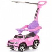 Masinuta de impins cu Copertina Mercedes Benz - Pink