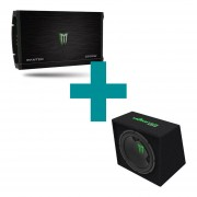 Combo Potencia Panter + Subwoofer Monster Sound M-124B