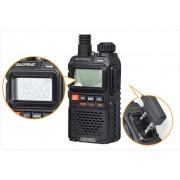 Statie radio Baofeng UV-3R+, Dual Band UHF, VHF, Walkie Talkie , FM tranciever, 99 CH, radio FM 88 - 108 MHz