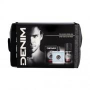 Denim Black set cadou aftershave 100 ml + deodorant 150 ml + geanta cosmetica pentru bărbați