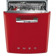 Smeg 50's Retro DI6FABRD Fully Integrated Standard Dishwasher - Red Control Panel with Fixed Door Fixing Kit - A+++ Rated