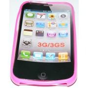 Силиконов гръб ТПУ за Apple iPhone 3G/3GS Розов