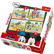Trefl Puzzle Slagalica 4u1 Mickey On the Farm (34117)