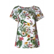 STREET ONE Carmen-shirt met bloemenopdruk - White