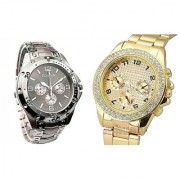 TRUE CHOICE NEW Rosra silver Combo of 2 Casual Watches For Mens by 7star