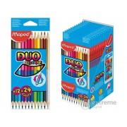 Creion colorat Maped COLOR`PEPS DUO, 12buc./vutie