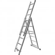 HYMER Alu-Mehrzweckleiter Einsteigermodell 3 x 6 Sprossen, max. Arbeitshöhe 4,60 m