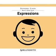 Brainsmith Newborn Cards – Expressions - Black and White Cards for Newborns – Newborn Baby - Vision Stimulation - Baby Brain Development - High Contrast Image Cards - Infant Flashcards – Early Learning – Infant Series - Visual Development – Baby Shower Gi