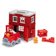 Green Toys Fire Station Playset & Farm Playset Toy fot Kids