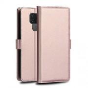 DFGHJ Caja del teléfono for Huawei Mate 30 Caso Lite Serie Milo PC + PU Vuelta Horizontal de Cuero con el Soporte y la Ranura for Tarjeta y Monedero (Negro) Regalo (Color : Rose Gold)