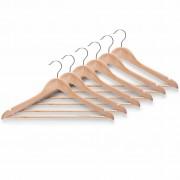 1 Houten kledinghangers (6 stuks) naturel gelakt