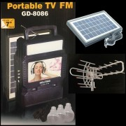 Kit Solar Incarcator Urgente Antena TV Radio FM USB MP3 GdLite GD8086