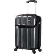 """Nasher Miles New York 4 Wheel 56cm / 22"""" ABS & PC Hard Sided Cabin Luggage - Trolley/Travel/Tourist Bag (Grey) Cabin Luggage - 22 inch(Grey)"""