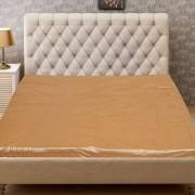 CASA-NEST Self Design PVC Double Mattress Protector - Light Brown
