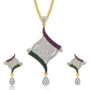 Sukkhi Versatile Gold And Rhodium Plated CZ Pendant Set For Women