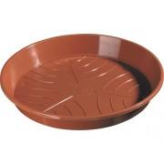 Farfurie ghiveci, Ø 18 cm, caramiziu