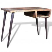vidaXL Písací stôl z recyklovaného dreva s nohami zo železa