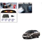 Auto Addict Car Silver Reverse Parking Sensor With LED Display For Tata Indigo