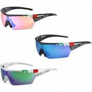 Salice 006 Italian Edition RW Mirror Sunglasses - Black/Blue