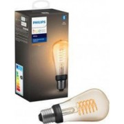 Bec LED Vintage Philips Hue Bluetooth ST64 E27 7W Lumina Alba Calda