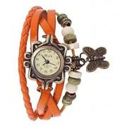 TRUE CHOICE 25888 Oreng Butterfly Ledhar Fancy Orange Color Dori Watch