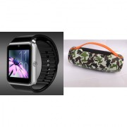 Mirza GT08 Smart Watch and Mini Xtreme K5 + Bluetooth Speaker for MOTOROLA razr maxx(GT08 Smart Watch with 4G sim card camera memory card |Mini Xtreme K5 + Bluetooth Speaker )