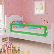 vidaXL Toddler Safety Bed Rail Green 120x42 cm Polyester