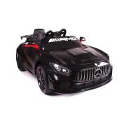 Mașinuță electrică pentru copii Mercedes-Benz GT4, Neagră, Licență Originală, Cu Baterii, Uși care se deschid, 2x Motoare, Baterie 12V, Telecomandă 2.4Ghz, Roți ușoare EVA, Servomotor, Pornire Ușoară