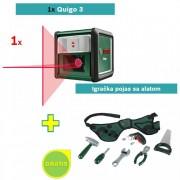 Laser za ukrštene linije Bosch Quigo 3 + Igračka pojas sa alatom