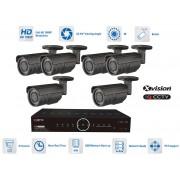 Profi AHD kamerový set - 6x bullet kamera 1080P + 40m IR a DVR