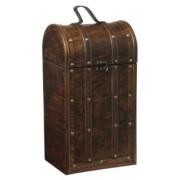 Kufřík na 2-3 lahve vína rustik dřevěný