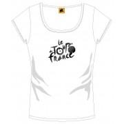 Tour De France T Shirt Dames Met Logo Wit Maat M