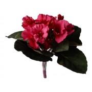 Kaaps viooltje wijn/rood kunstplanten kunstbloemen MICA