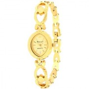 Evelyn Stainless Steel Gold Plated Wrist Watch for Women-EVE-537