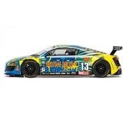 Scalextric Audi R8 Lms Rum Bum Racing 1:32 Slot Car C3854 Vehicle Replica