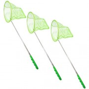 TukTek Kids First Green Butterfly Net 3 Pack Bug Catcher Outdoor Nature Science Education Telescoping 27 Extendable Toy for Boys and Girls