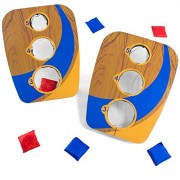 Crown Sporting Goods Take Along 3 Hole Folding Bean Bag Toss