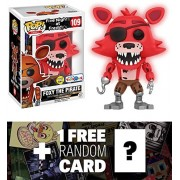 Foxy The Pirate [Glow-in-Dark] (Toys R Us Exclusive): Funko POP! Games x Five Nights at Freddy's Vinyl Figure + 1 Official FNAF Trading Card Bundle (13903)