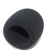 Weymic? Th23 Large Size Black Foam Windscreen for Blue Yeti Mxl Audio Technica and Suitable for Most Large Condenser Dynamic or Ribbon Mics Studio Recording Condenser Microphones - Size 55*100mm-ideal for Large Size Condenser Recording Type Mics 1pc