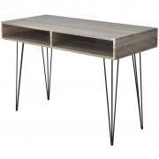 vidaXL Desk with 2 Compartments Grey