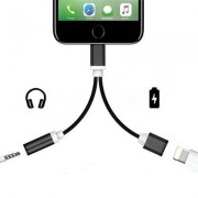 Apple 2 in 1 Audio Adapter 8 Pin 2 to 3.5mm Aux Headphone Jack for iphone 7 Plus / 7